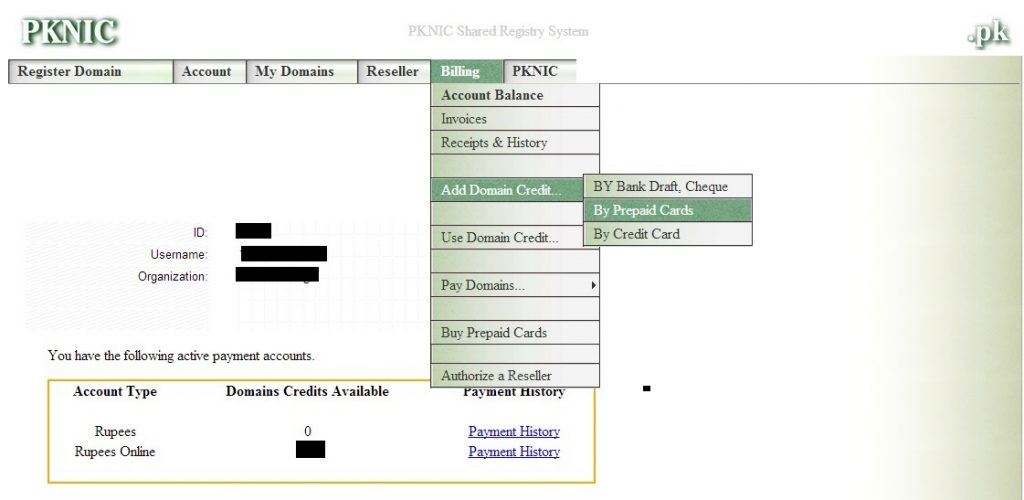 how to use pknic prepaid card